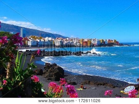 Playa JardinPuerto de la Cruz Tenerife Spain
