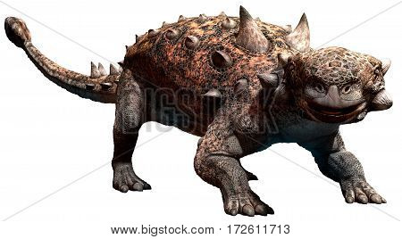 Euoplocephalus dinosaur from the Cretaceous era 3D illustration