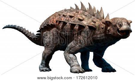 Polacanthus dinosaur from the Cretaceous era 3D illustration