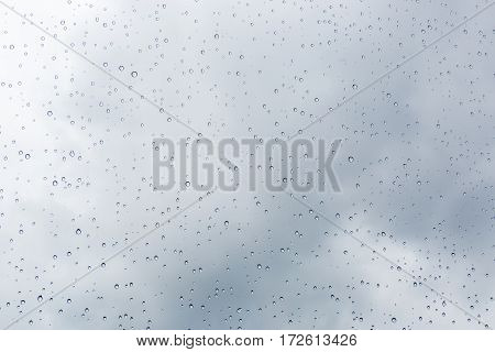 Raindrops on glass. Raindrops on glass background closeup