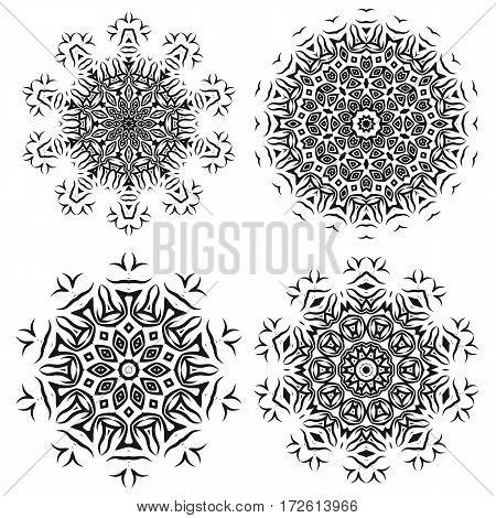 Ornamental Line Pattern. Endless Texture. Oriental Geometric Ornament