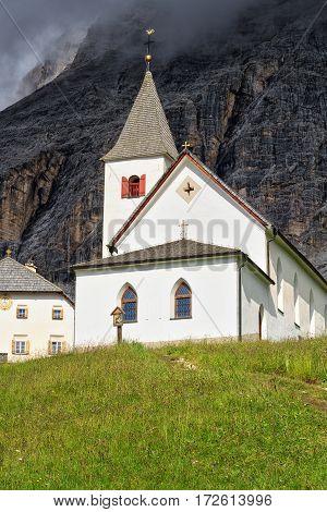 Santa Croce church and sanctuary in Val Badia Alto Adige South Tyrol Italy