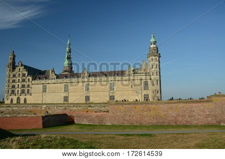 A view of Kronborg castle at Helsingor