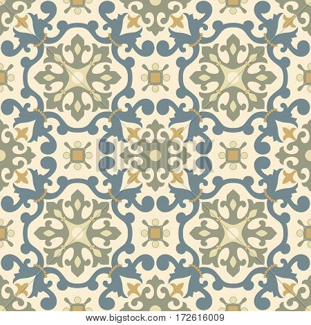 Traditional  Arabic ornament seamless for your design. Floral ornamental seamless pattern  for ceramic tile, interior decoration, wrapping paper, graphic design and textile. Iznik.