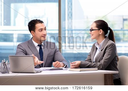 Businesspeople having discussion in the office