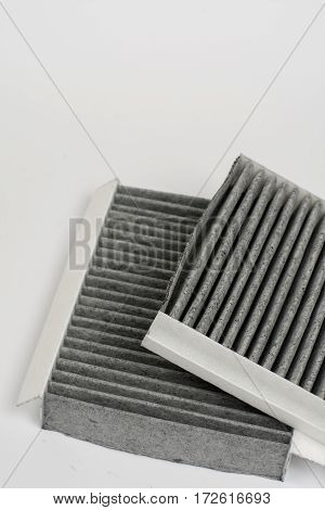 Car Air Cabin Filter Isolated Over White Background