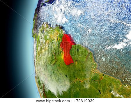 Guyana On Planet Earth From Space