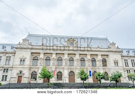 Bucharest, Romania - May 25, 2014: The Courthouse Of Bucharest.