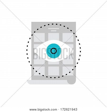 Modern vector icon of visual sketching digital art visualization leaflet placard. Premium quality vector illustration concept. Flat line icon symbol. Flat design image isolated on white background.