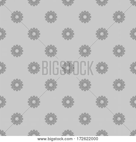 Small gray flowers seamless background. Floral motif pattern. Vector