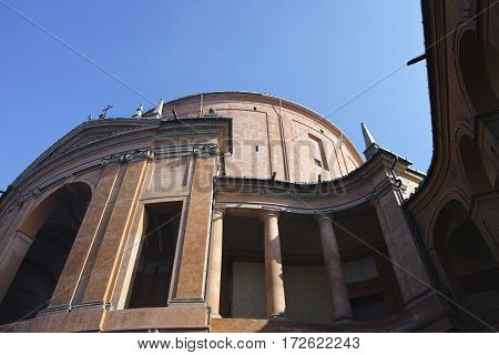sanctuary of the Madonna di San Luca antique church on the hill of Bologna Italy