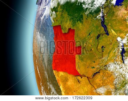Angola On Planet Earth From Space