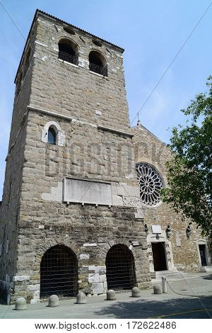 Catholic church of San Giusto Martire in Trieste Italy.