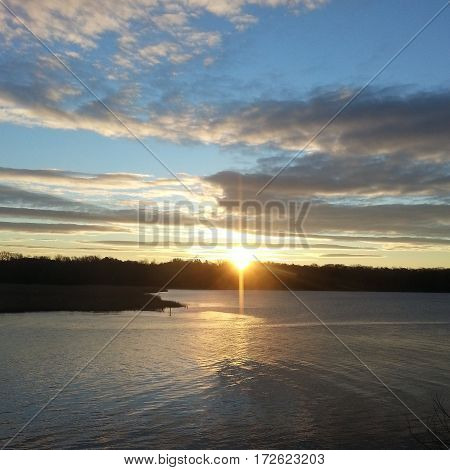Sunrise over the Patuxent River in Maryland