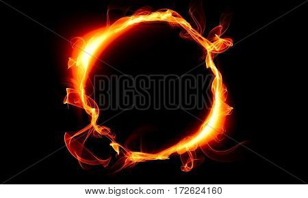 Ring consisting of a fire. The magical thing. Fantasy.