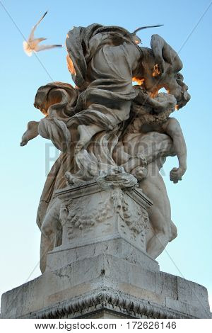 The Monument of Victor Emmanuel II Venezia Square in Rome Italy
