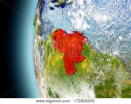 Venezuela On Planet Earth From Space