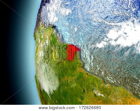 French Guiana On Planet Earth From Space