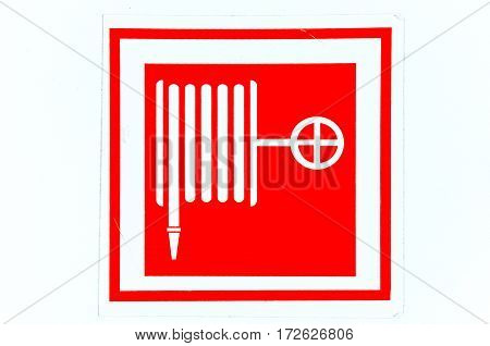 Extinguishing a fire hose symbol on the old label