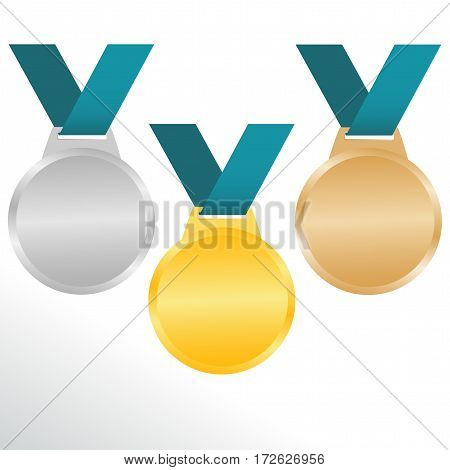 gold bronze and silver medals for awarding olympic champions