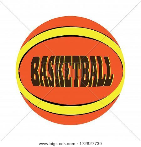 Isolated basketball ball with text, Vector illustration