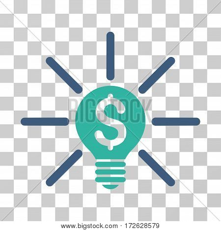 Business Idea Bulb icon. Vector illustration style is flat iconic bicolor symbol cobalt and cyan colors transparent background. Designed for web and software interfaces.
