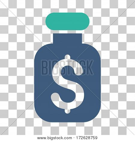 Business Remedy icon. Vector illustration style is flat iconic bicolor symbol cobalt and cyan colors transparent background. Designed for web and software interfaces.