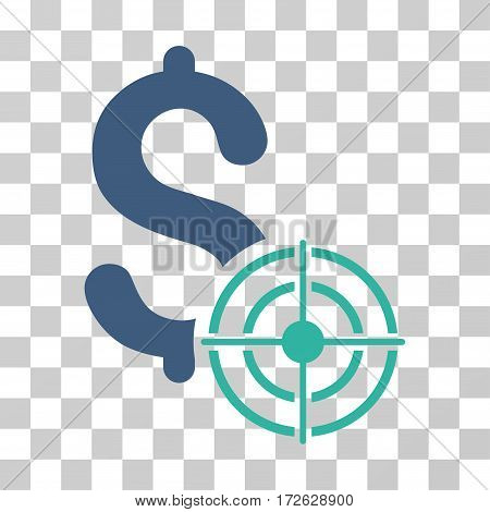 Business Target icon. Vector illustration style is flat iconic bicolor symbol cobalt and cyan colors transparent background. Designed for web and software interfaces.