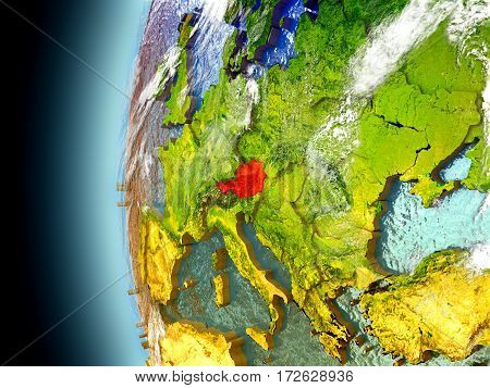 Austria On Planet Earth From Space