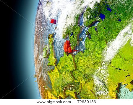 Denmark On Planet Earth From Space