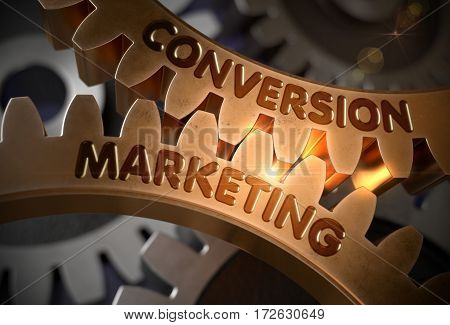 Conversion Marketing - Illustration with Glowing Light Effect. Conversion Marketing - Concept. 3D Rendering.