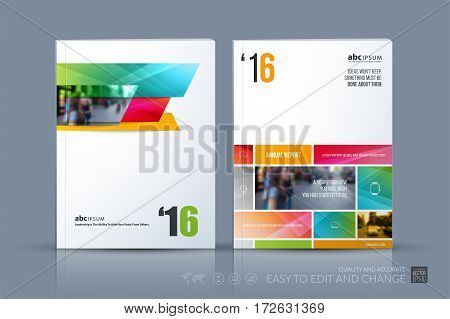 Business vector template. Brochure layout, cover modern design annual report, magazine, flyer in A4 with many colourful rectangles, banners for business with abstract texture background.