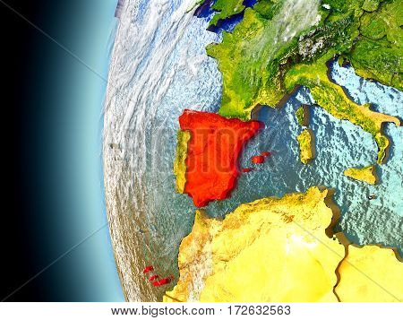 Spain On Planet Earth From Space