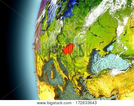 Hungary On Planet Earth From Space