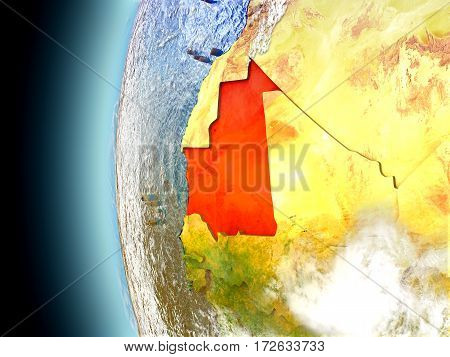 Mauritania On Planet Earth From Space