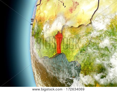 Benin On Planet Earth From Space