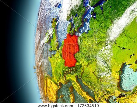 Germany On Planet Earth From Space