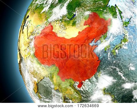 China On Planet Earth From Space