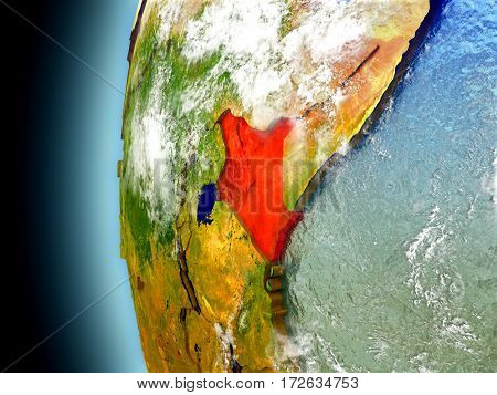 Kenya On Planet Earth From Space
