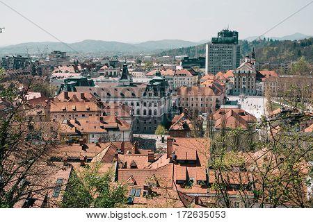 City of Ljubljana in Republic of Slovenia