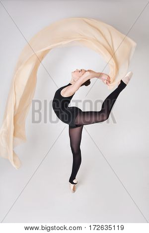 Ballerina With Air Freely Flying Cloth