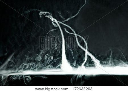 Vape Trick Tornado On A Dark Background