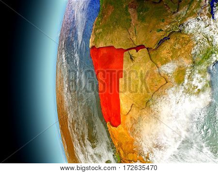 Namibia On Planet Earth From Space