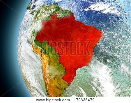Brazil On Planet Earth From Space