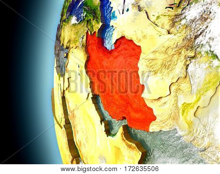 Iran On Planet Earth From Space