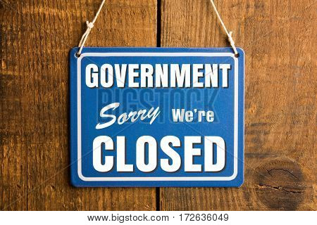 Government Shutdown concept.