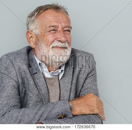 Caucasian Old Business Man Concept