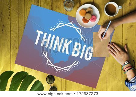 Imagine Think Big Innovate Ideas Word