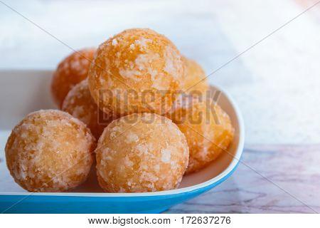 Sesame Balls, Many Kind Of Thai Dessert.