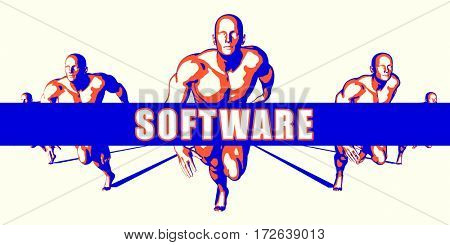 Software as a Competition Concept Illustration Art